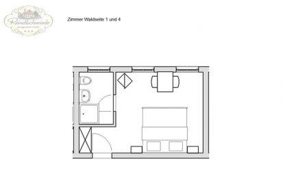 Reindlschmiede Grundriss Gästezimmer